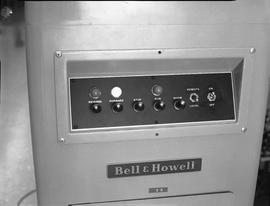 British Columbia Institute of Technology Broadcasting ; 1960s ; controls for a Bell & Howell ...
