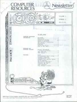 BCIT Computer Resources Newsletter, vol.1, no.2, 1982-11-01
