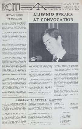 BCIT Alumni Association Newsletter 1976