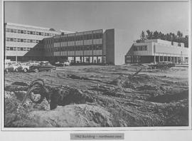 British Columbia Institute of Technology - Burnaby campus northwest view - early building constru...