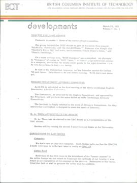 BCIT Developments, vol. 1, no. 3, 1975-03-24