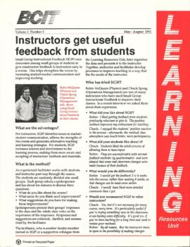 BCIT Learning Resources Unit newsletter, vol.1, no.2, 05-1991