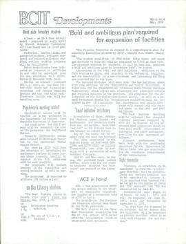 BCIT Developments, vol. 1, no. 4, 1972-05
