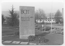 British Columbia Institute of Technology - Burnaby campus - exterior photograph of BCIT west entr...