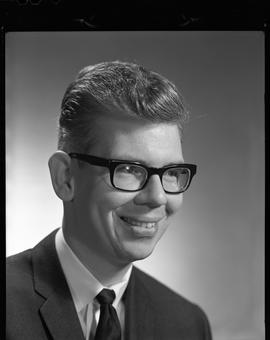 Crandall, Bert, Library Clerk, Staff portraits 1965-1967 (E) [3 of 3 photographs]