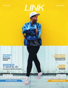 Link magazine February 2017 BCIT & Beyond; Case Mutangadura, cover