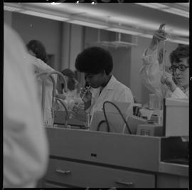 Medical laboratory technology, 1968; students working in a medical lab [7 of 11]