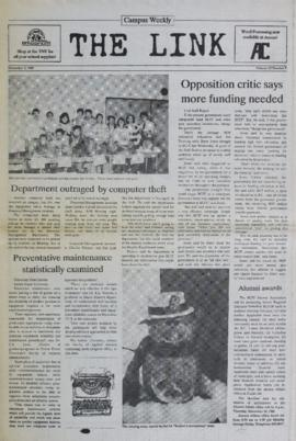 The Link Newspaper 1988-11-02