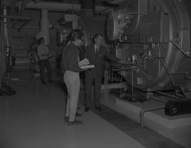 Stationary engineering, Terrace, 1968; men standing in a maintenance room with large machinery [2...
