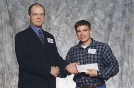 BCIT Alumni Association Entrance Award, Oct. 27, 1999; Mathieu Schneider, presented by Kazamir Fa...