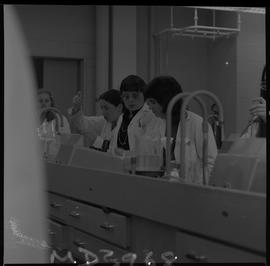 Medical laboratory technology, 1968; students working in a medical lab [11 of 11]