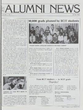 BCIT Alumni Association Newsletter 1985 Spring BCIT Alumni News