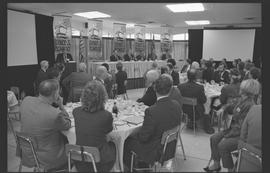 Groups of tables listening to speeches during Science and Technology week (October 14-20, 1990) [...
