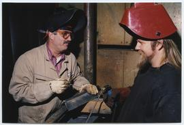 BCIT Welding Trades - Steel Trades 1992 - instructor Al Wood [2 of 9 photographs]