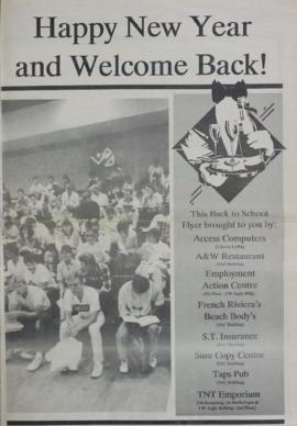 The Link Newspaper 1989-01 Happy New Year and Welcome Back! Back to school flyer