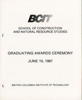 BCIT School of Construction and Natural Resource Studies, Graduating awards ceremony; June 10, 19...