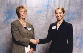 BCIT Alumni Association Entrance Awards, Nov. 7, 2001; Lesley Trivett, presented by Brenda Dumont...