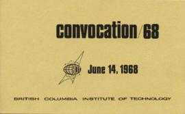Convocation 68, June 14, 1968, BCIT; program and awards