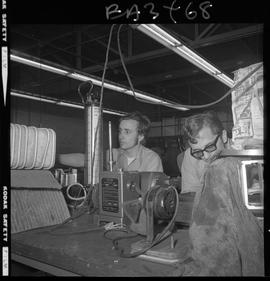 BC Vocational School image of two students working on equipment in the Appliance Servicing progra...