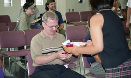 "First Nations ""Honoring Our Heritage"" event, male receiving small token from First Nati..."