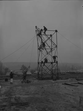 Structural steel, 1968; workers constructing a steel structure [2 of 4]
