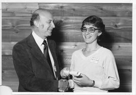 Alumni Awards, 1979, event photograph; recipient Patrice Palmerino [name on back of photo written...