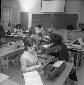 BC Vocational School Commercial Program; students typing [photograph 8 of 8]