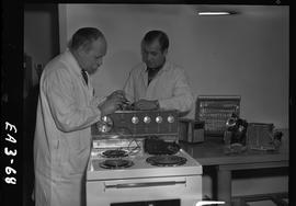BC Vocational School image of an instructor and student in the Appliance Servicing program; measu...