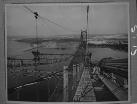 Structural steel; view from the top of A. Murray Mackay bridge connecting Halifax and Dartmouth