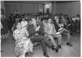Alumni Association event photograph, 1987; an audience clapping
