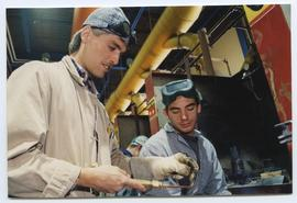 BCIT Welding trades steel trades 1992 [8 of 9 photographs]