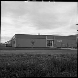BC Vocational School Dawson Creek Campus ; exterior of the Agriculture Farrier Training building