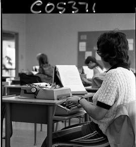 BC Vocational School Commercial Program; students typing (photograph 4 of 5)