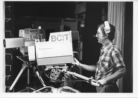 Broadcast Communications; man using a production studio video camera; photo was used for an artic...
