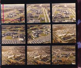 Arial photographs contact sheet with 2014-12.011 marked on it in red (some water damage)