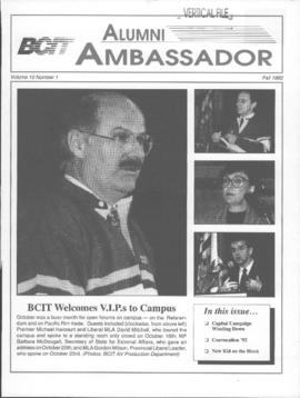 BCIT Alumni Association Newsletter 1992 Fall Alumni Ambassador