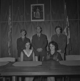 Student Council BCVS 1971-1972; five council members posing for a photograph