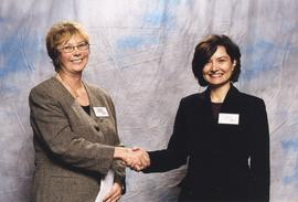 BCIT Alumni Association Entrance Awards, Nov. 7, 2001; Dagmar Dlab, presented by Brenda Dumont, V...