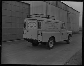 Sheet metal, 1967; truck from BCVS students for British Columbia Youth Salute Guyana Youth (back ...