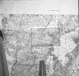 BCIT Programs Forestry Technology ; map and dot measuring ruler