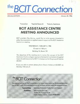 BCIT Connection: Special edition 1986-01-30