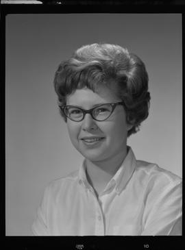 Lyall, Barbara (Barb), Reference Librarian, Staff portraits 1965-1967 (E) [1 of 3 photographs]