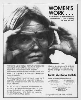 WEAT Women's Exploratory Apprenticeship Training, PVI Maple Ridge, Women in the Trades, 1979, 198...