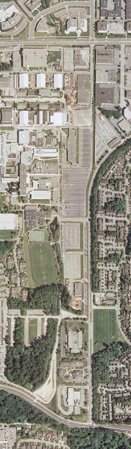 Orthophotograph of BCIT Burnaby east campus, 2004
