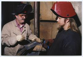 BCIT Welding Trades - Steel Trades 1992 - instructor Al Wood [4 of 9 photographs]