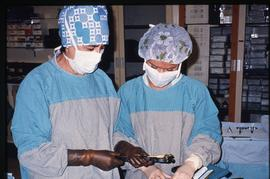 Advanced critical care studies, operating room, December 13, 1987 [7 of 9 photographs]
