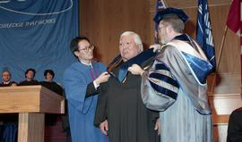 Robert (Bob) George receiving an Honorary Doctorate of Technology; Elder Advisor, BCIT [2 of 19 p...