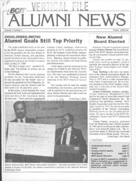 BCIT Alumni Association Newsletter 1988-89 Winter BCIT Alumni News