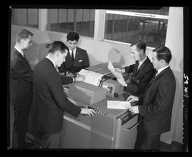 British Columbia Institute of Technology - program photographs - 1960's - Business Management, me...