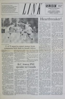 The Link Newspaper 1989-11-08